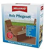 Mellerud Holz Pflege-Set Teak, Holz WPC Reiniger, Pflegeöl, Pinsel, Schwamm, Schleifpad, Bürste, Handschuhe & Pflegeanleitung - 2005107713