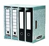 Fellowes Bankers Box - Contenitore in cartone per scatole da archivio, 400 x 400 x 290 mm grigio