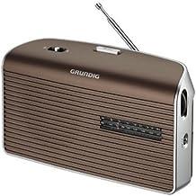 Grundig Music 60 - Radio (Personal, Analógica, AM, FM, 9 cm, 3,5 mm, 25 cm) Marrón, Plata