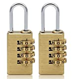 Best Bike Lock Cable 1 2s - MIONI Solid Brass 2 PCS Combination Lock 4 Review