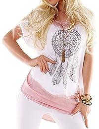 Juleya Camicia Top Blusas Blusa Vintage Donna Stampata Camicetta Elegante  Manica Corta Plus Size Camicette Casual d23e9961cb09