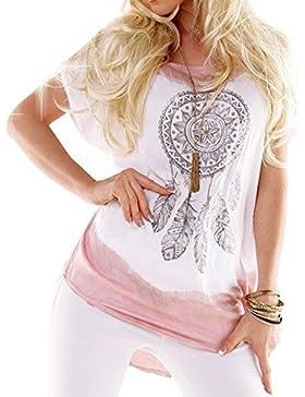 Juleya Camisa Tops Blusas Mujer Vintage Blusa Estampada Elegante Manga Corta Plus Size Mujeres Blusas Casuales