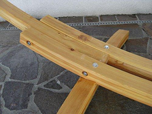 410cm XXL Hängemattengestell RELAX NATUR aus Holz Lärche mit Stab Hängematte von AS-S -