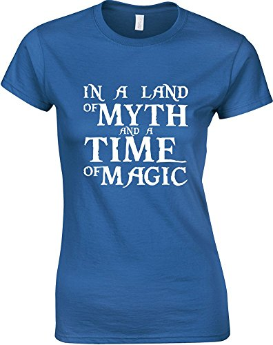 in-a-land-of-myth-and-a-time-of-magic-ladies-printed-t-shirt-royal-blue-white-s-6-8