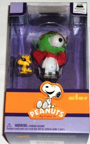 Peanuts / Forever Fun 5,1cm Peanuts Halloween Snoopy wie die WWII Flying Ace & Woodstock als Copilot Figur