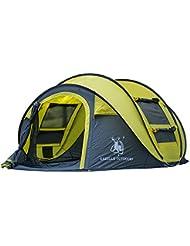 GAZELLE OUTDoor 4-Personen Pop-Up-Zelt, automatisches Aufstellen in Sekunden, einfaches Zusammenlegen, großartiges Familienzelt, Campingzelt, Outdoor-Zelt