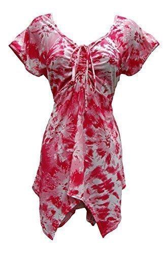 Damen sexy taschentuch hem party abend sommer top plus größe eu 44 bis eu 62 UK Schwarz, Blau, Pink pink Batik