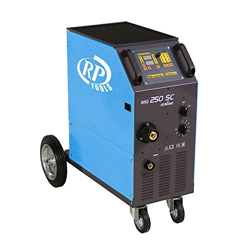 Preisvergleich Produktbild Schutzgas Schweissgerät Schweißgerät MIG MAG luftgekühlt 30-250 A 3x400V digital 0.8-1.2 mm 4 Rollen Vorschub Made in EU