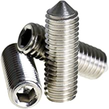 Aerzetix 20 Schraubenbolzen ohne Kopf M2x4 DIN913 geschw/ärzten Stahl Fu/ßabdrucks Alle 0.9mm C18132