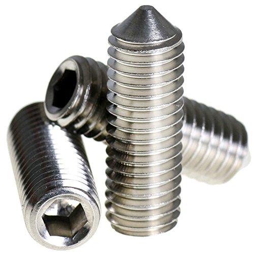 Bolt Base - Madenschraube mit Innensechskant - 6 mm / M6 x 12 mm - A2 Edelstahl - DIN 914 - 50 Stück (12 M6 Bolt)