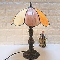 ZxTL 12 Zoll Vintage Tischleuchte, Metall Sockel Und Rostfreier Glas  Schreibtisch Lampe Schlafzimmer Lampe