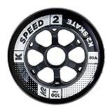 K2 100 MM Speed Wheel 4-Pack Black