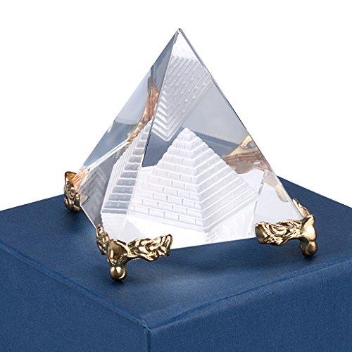 s Glas Doppel Schichten, mit 4Füße Metall, für Dekoration, Briefbeschwerer, Geschenk, Werkzeug-Fotografie usw. (60mm) ()