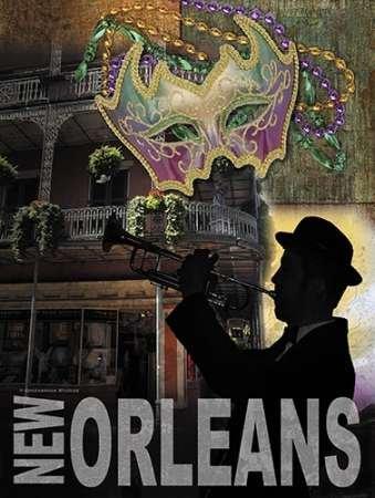Fine Art Print–New Orleans von gango Editions, 30 x 40 (Mardi-gras-creme)