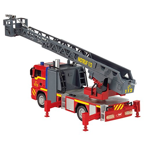 Dickie Toys 203715001 – City Fire Engine, Feuerwehrauto mit manueller Wasserspritze, 31 cm - 5