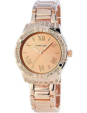 Excellanc Damen-Armbanduhr Analog Quarz verschiedene Materialien 150835500031