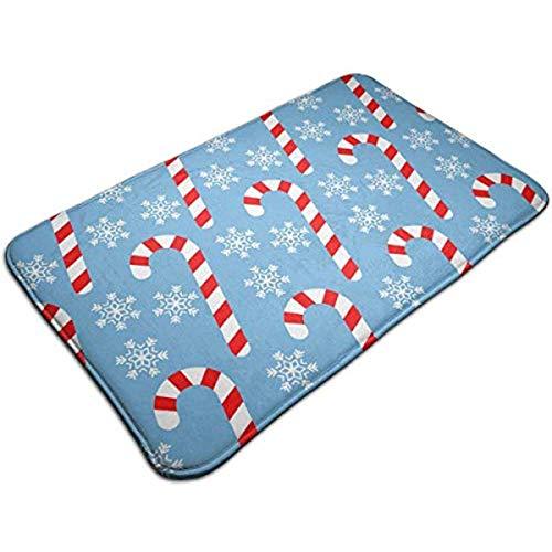s Candy Cane Entrance Mat Floor Mat Rug Doormat Indoor/Bathroom Rubber Non Slip 23.6