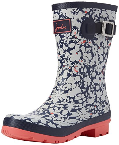 Joules Molly Welly, Bottes de Pluie femme Blue (Navy Mara Ditsy)
