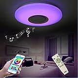 HOREVO Moderne Deckenleuchte mit Fernbedienung Dimmbare Mit Bluetooth Lautsprecher, LED 36W Ø 50cm [ Smartphone APP Kontrolle ] [ 3000K-6500K Warmweiß/Kaltweiße ], LED RGB Farbwechsel Deckenlampe für HOREVO Moderne Deckenleuchte mit Fernbedienung Dimmbare Mit Bluetooth Lautsprecher, LED 36W Ø 50cm [ Smartphone APP Kontrolle ] [ 3000K-6500K Warmweiß/Kaltweiße ], LED RGB Farbwechsel Deckenlampe