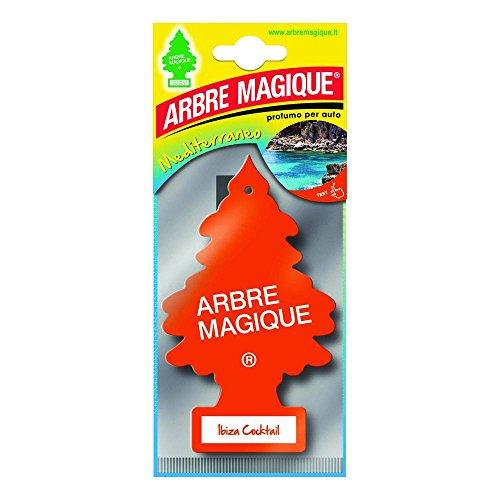 Arbre Magique Mono, Deodorante Auto, Fragranza Ibiza Cocktail, Profumazione Prolungata fino a 7 Settimane