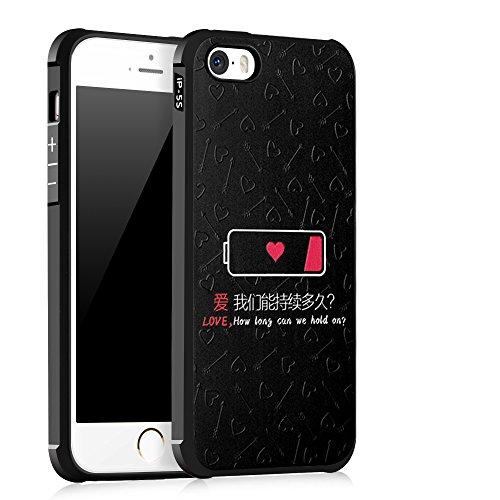 UKDANDANWEI Apple iPhone SE [QKS] TPU 3D Handyhülle Schutzhülle Silikon kratzfeste stoßdämpfende Case für Apple iPhone SE - Stil(03) Stil(07)