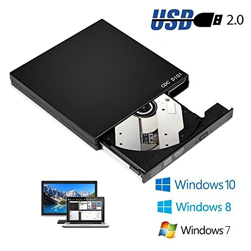 Portable External Black Slim USB...