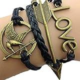 Acquista Bracciale braccialetto Infinito infinity Hunger Games Karma amore tendenza fashion Bronzo Freccia