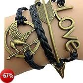 Bracciale braccialetto Infinito infinity Hunger Games Karma amore tendenza fashion Bronzo Freccia