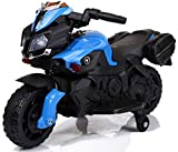 Toy House Carbon Panther Motorcycle Rechargeable Battery Operated Ride-On for Kids