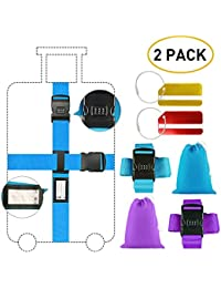 Correa para Equipaje/Cinturón de seguridad para maletas con candado de combinación, resistente, 2 Piezas