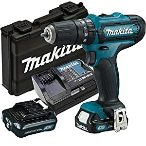 Makita hp331dsax3–Atornillador, 2x Batería/cargador en maletín de transporte, 170W, 10.8V + Makita P-90358 – Juego de accesorios taladro eléctrico pro (60 piezas)