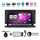 With Camera.Double DIN 6.2-inch Car Gps Navigation in Dash Car Dvd Player Car Stereo Touch Screen with Bluetooth USB Sd Mp3 Radio for Universal Car