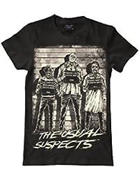 The Usual Suspects Herren Horror Movie Original Darkside Herren T-Shirt, inspiriert von Freddy und Jason Leatherface