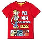 Bob der Baumeister Kollektion 2018 T-Shirt 92 98 104 110 116 122 128 Shirt Jungen Rot (Rot, 104-110)