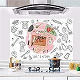 RUIPENGPENG Wall Sticker Aufkleber wasserdicht Abnehmbare für Wohnzimmer Kinder Baby Nursery Cartoon extraktoren Ölofen hochtemperaturbeständige Restaurant kunst Bad wasserfest Selbstklebend, 88 * 58 CM
