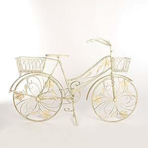 blumenst nder fahrrad metall garten blumenfahrrad landhaus shabby deko ecru 79 x 122 x 34 cm. Black Bedroom Furniture Sets. Home Design Ideas