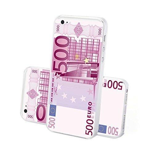 FINOO ® | Iphone 6 / 6S Hardcase Handy-Hülle | Transparente Hart-Back Cover Schale mit Motiv Muster | Tasche Case mit Ultra Slim Rundum-schutz | stoßfestes dünnes Bumper Etui | 100 Euro Schein 500 Euro Schrein
