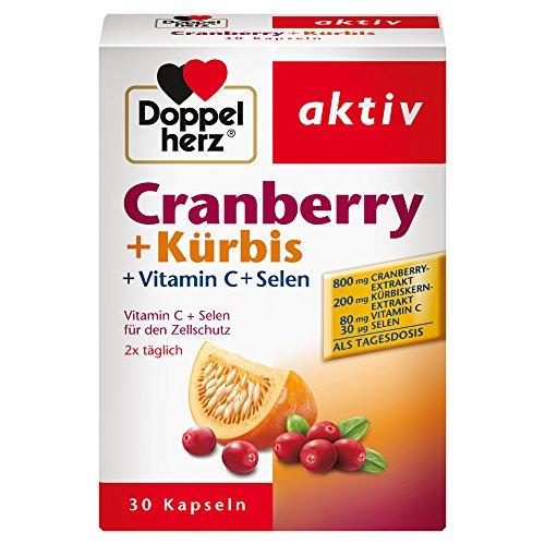 Doppelherz Cranberry + Kürbis - Mit Vitamin C + Selen für den Zellschutz und zur Unterstützung des Immunsystems - 1 x 30 Kapseln (Blase Vitamine)