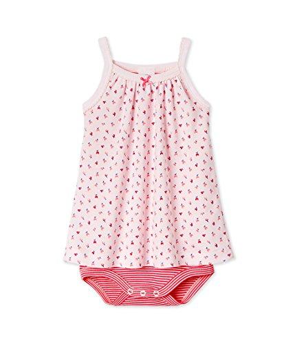 Petit Bateau Baumwoll-höschen (Petit Bateau Baby-Mädchen Kleider Body robe_23190, Mehrfarbig (Vienne/Peony/Multico 09), 86 (18m/81cm))