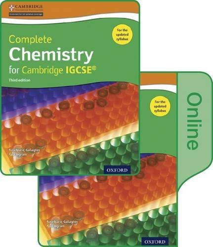 Complete Chemistry for Cambridge IGCSE Print and Online Student Book Pack (Third edition) by RoseMarie Gallagher (2014-11-06)