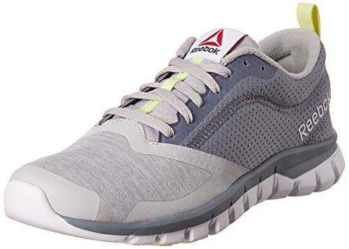 Reebok Women's Sublite Authentic 4.0 Grey, Dust, Lemon and White Running Shoes – 4 UK/India (37 EU) (6.5 US) 51sp 2Biloe8L