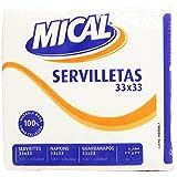 Mical Servilletas Blancas, 33 x 33 cm - 70 Unidades