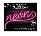 London Empire Neon-Effektschild zum Selbermachen, 3 m, Neon-Lichternachrichten-Set, für Partys, Geburtstage, Pink