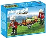 Playmobil Vida en la Montaña - Equipo de rescate de montaña con camilla (5430)