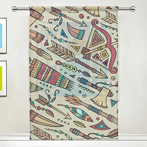 """TIZORAX Vorhang aus Voile, für Küche, Wohnzimmer oder Kinderzimmer, 139,7 cm B x 19,8 cm L, Polyester, Multi, 55\"""" W x 78\"""" L"""