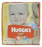 #4: Huggies Dry Diapers - Medium (5-11 Kg), 60 Pieces Pack