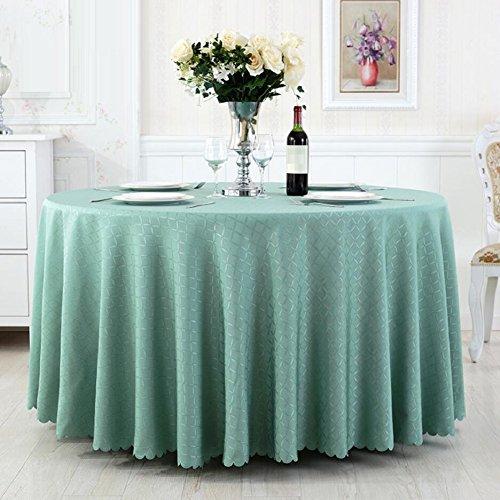 Preisvergleich Produktbild ZC&J Hochwertige, exklusive, runde Tischdecke, Polyester-Baumwoll-Material, Staub und Anti-Fouling Einfach zu reinigen, einfacher europäischer Tischdecke,blue,Diameter 260cm