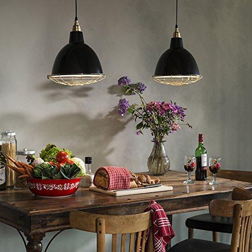 QAZQA Modern 2-flammiger-Set Pendelleuchte / Hängelampe schwarz Metall Rund LED geeignet