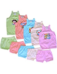 Cool Baby Baby Boy Shirt and Shorts Set (Pack of 5)(COOL-002_Multicolor_0 - 6 Months)
