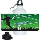 Eurofoto Fußball-Trinkflasche mit Namen Maximilian und schönem Fußballer-Motiv für Jungen